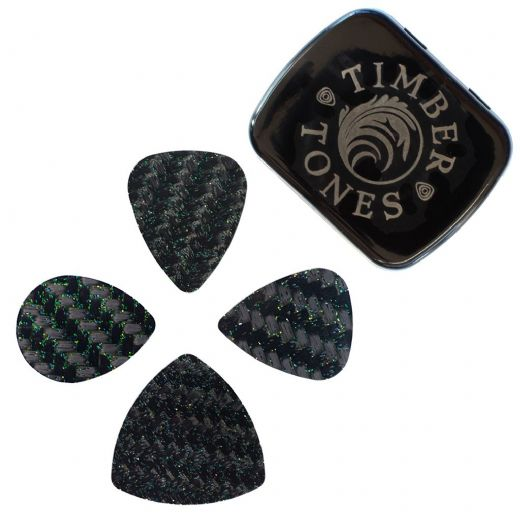 Glitter Tones Mixed Tin of 4 Guitar Picks
